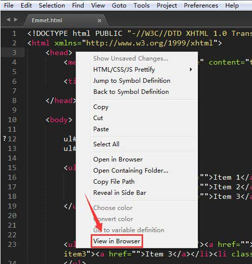 SublimeText3网页自动同步更新插件:ViewInBrowser