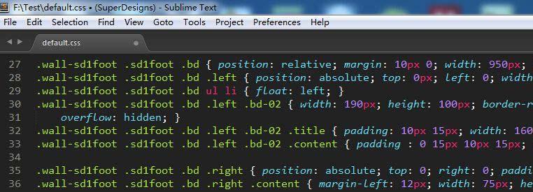 SublimeText3CSS格式化插件:CompactExpandCSSCommand